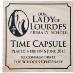 Engraved Sandstone Paver - Time Capsule Cover