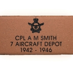 Commemorative Air Force Engraved Name Paver