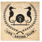 Life Saving Club emblem on Sandstone paver.