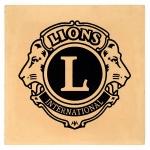Lions Club Logo on single cream paver