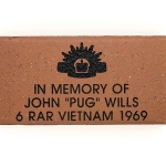 Commemorative Army Engraved Name Paver