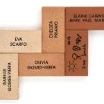 Herringbone display - various name pavers and colours