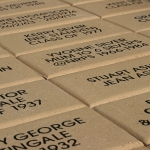 Engraved Name Pavers in Path