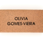 Gold name paver